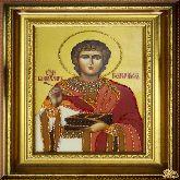 Икона Святой Пантелеймон из страз