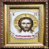 Икона из страз Спас Нерукотворный