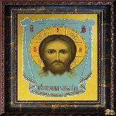 Икона Спас Нерукотворный из страз