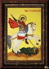 Икона из страз Георгий Победоносец