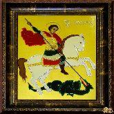Икона Георгий Победоносец из страз