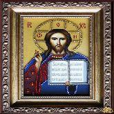 Икона Господь Вседержитель со стразами