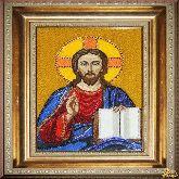 Икона Господь Вседержитель из страз