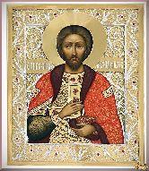 Икона св. Князя Александра Невского из серебра