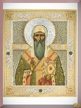 Икона св. Алексия из серебра