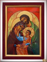 Икона св. Святого семейства из серебра