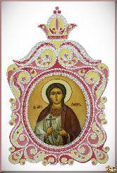 Икона Святая мученица Любовь Римская из серебра