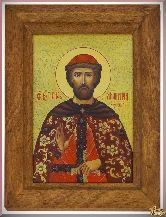 Икона св. Дмитрия из серебра