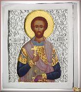 Икона св. Валентина из серебра
