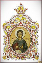 Икона св. Надежды из серебра