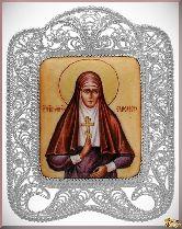 Икона Преподобномученица Елисавета Феодоровна из серебра