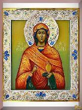 Икона св. Анастасии из серебра