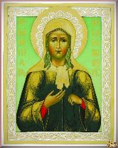 Икона Святая блаженная Ксения Петербургская из серебра
