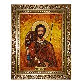 Икона Андрея апостола Первозванного из янтаря