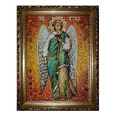 Икона Ангела Хранителя с янтаря