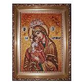 Икона Богородицы Цареградская из янтаря