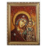 Икона Божья Матерь из янтаря