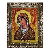 Икона Божией Матери Огневидная с янтаря