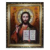 Икона c янтаря Господь Вседержитель