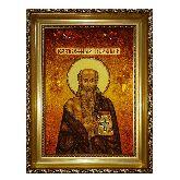Икона Иероним Блаженный Стридонский из янтаря