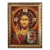 Икона Иисус Христос с янтаря