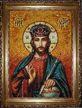 Икона Иисуса Христа с янтаря