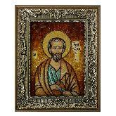 Икона из янтаря Апостол Иуда Леввей