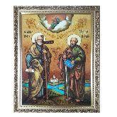 Икона из янтаря апостолы Петр и Павел