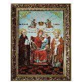 Икона из янтаря Божья Матерь ЭКОНОМИССА