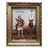 Икона из янтаря Евстафий Плакида