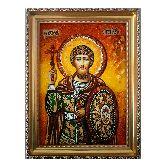 Икона из янтаря Феодор Стратилат