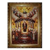 Икона из янтаря Премудрость созда Себе дом