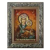 Икона из янтаря Прежде Рождества и по Рождестве Дева