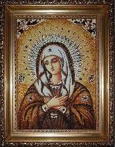 Икона из янтаря Радуйся Невесто Неневестная