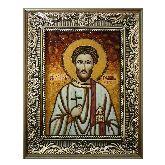 Икона из янтаря Роман Кесарийский