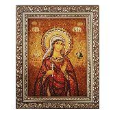 Икона из янтаря Святая мученица Пелагея