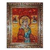 Икона из янтаря Святая мученица Валерия