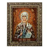 Икона из янтаря Святая мученица Зоя