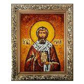 Икона из янтаря Святой Апостол Стахий