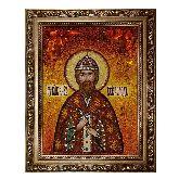 Икона из янтаря Святой князь Всеволод