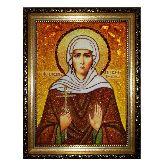 Икона из янтаря Святой Ксении Петербургской