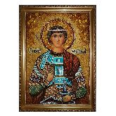 Икона из янтаря Великомученик Святой Георгий победоносец