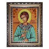 Икона янтарная Праведный Артемий Веркольский