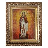 Икона Мученица Антонина Никейская из янтаря