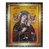 Икона Неустанная помощь с янтаря