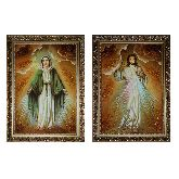 Икона Образ Иисуса Милосердного и Девы Марии