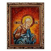 Икона Праведный праотец Адам из янтаря