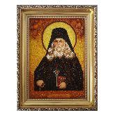 Икона Преподобный Лев Оптинский из янтаря