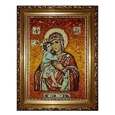 Икона Пресвятой Богородицы Елецкая из янтаря