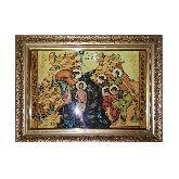 Икона с янтаря Богоявление Крещение Иисуса Христа